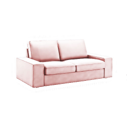 Kivik 2 places en velours quartz rose